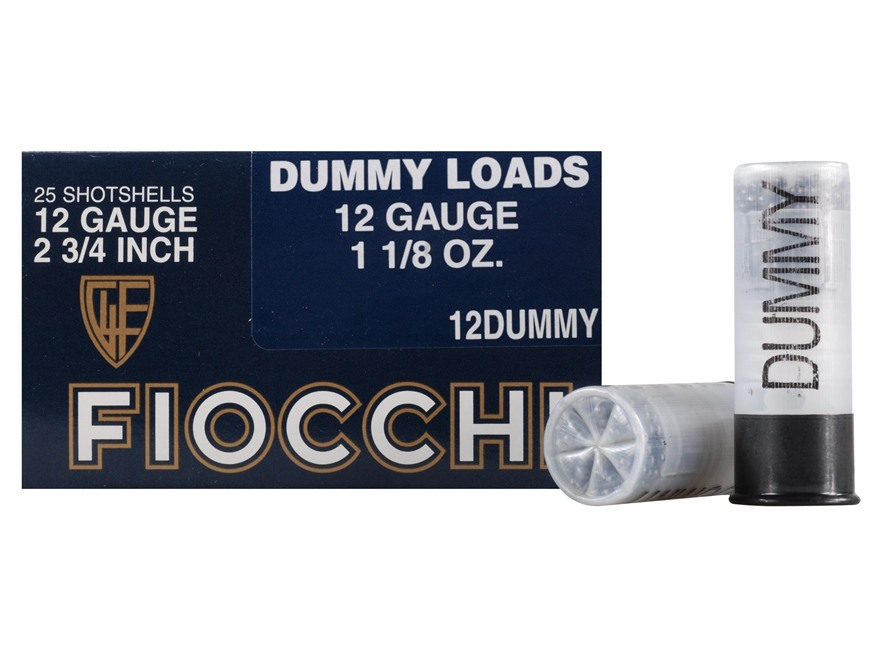"Fiocchi Action Proving Dummy 12 Gauge 2-3/4"" Box of 25"