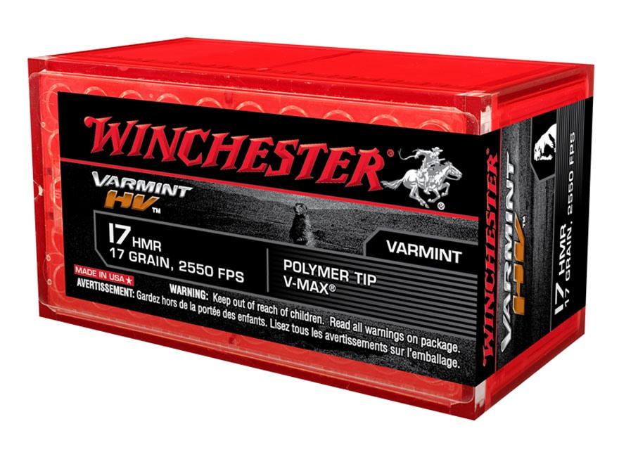 Winchester Supreme Ammunition 17 Hornady Magnum Rimfire (HMR) 17 Grain Hornady V-Max