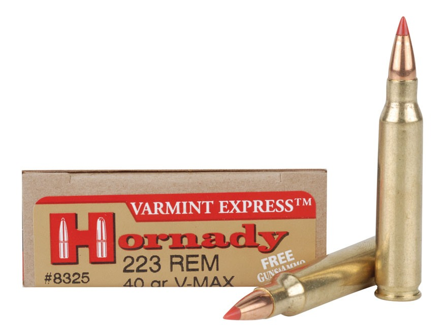 Hornady Varmint Express Ammunition 223 Remington 40 Grain V-Max Box of 20