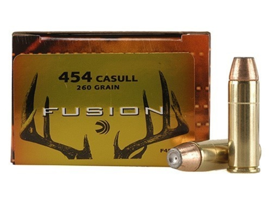 Federal Fusion Ammunition 454 Casull 260 Grain Jacketed Hollow Point