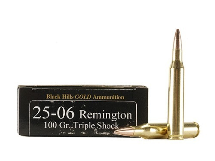 Black Hills Gold Ammunition 25-06 Remington 100 Grain Barnes Triple-Shock X Bullets Hol...