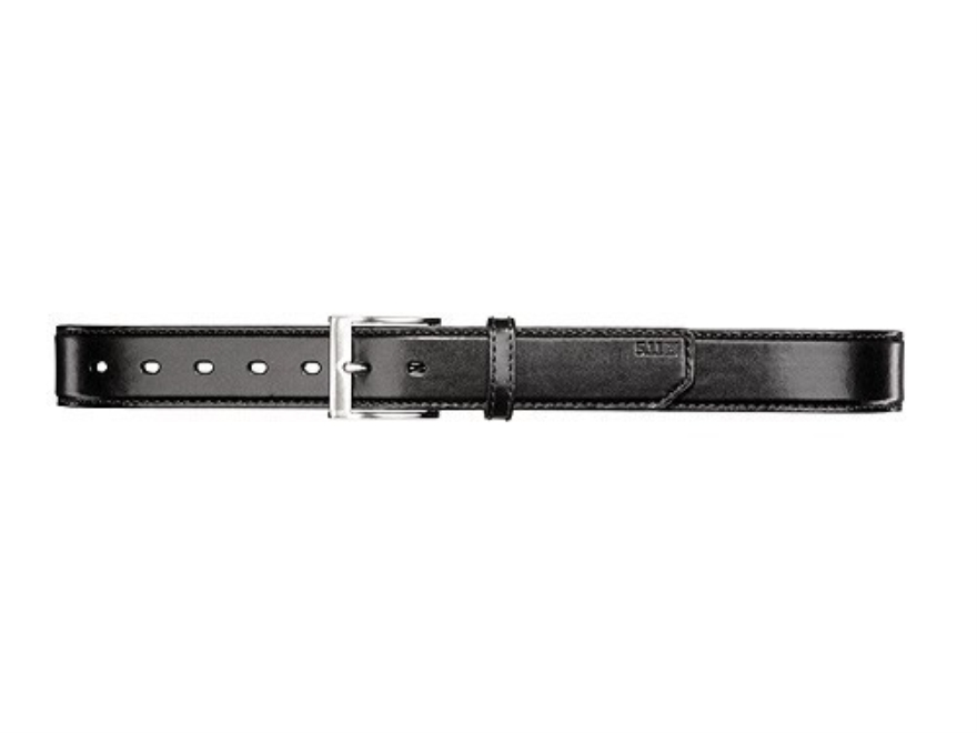 "5.11 Casual Holster Belt 1-1/2"" Nickel Plated Brass Buckle Leather Black 36"" to 38"""