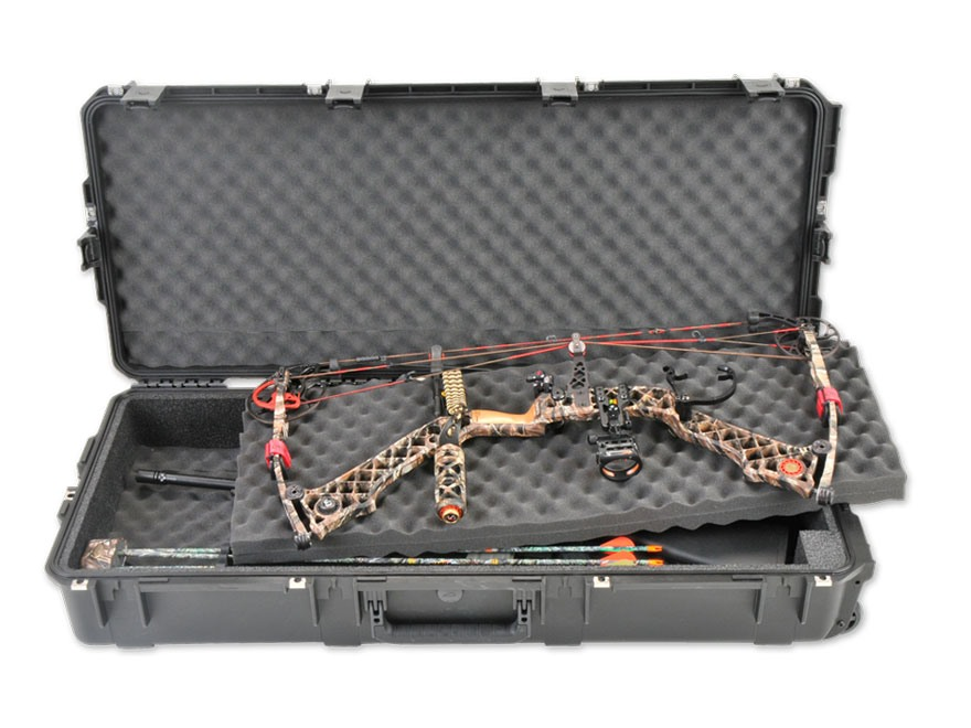 "SKB iSeries 4217 MIL-Spec Double Bow/Quad Rifle Case with Wheels 41"" Polymer Black"