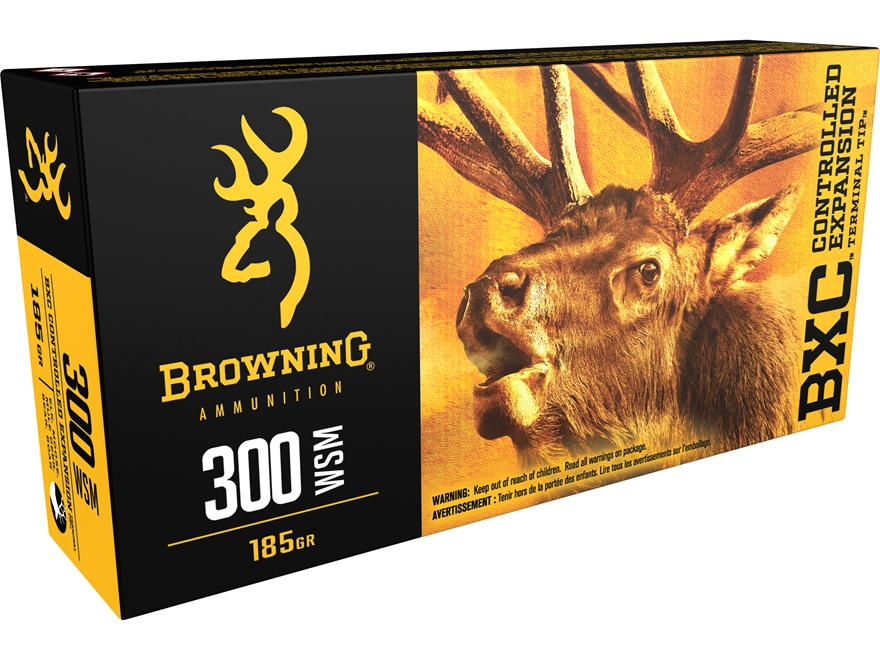 Browning BXC Controlled Expansion Ammunition 300 Winchester Short Magnum (WSM) 185 Grai...