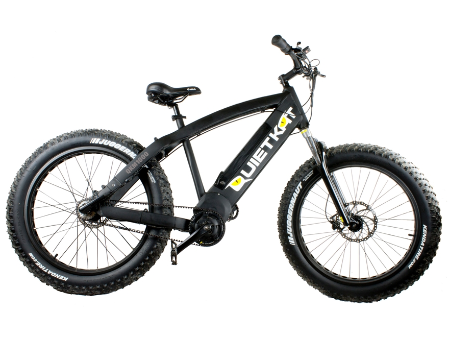 QuietKat 1000W Motorized FatKat Bike with Internal Motor and Carbon Belt Drive