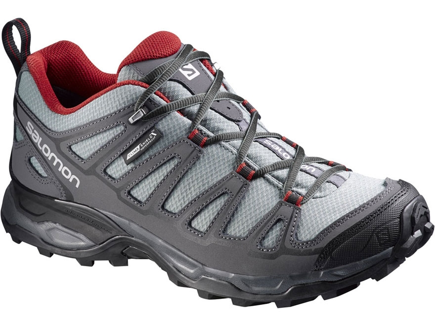 "Salomon X Ultra Prime CS 4"" Waterproof Hiking Shoes Synthetic Pearl Gray/Dark Cloud/Fle..."