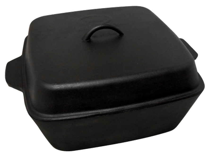 King Kooker 12 Qt Seasoned Cast Iron Roaster