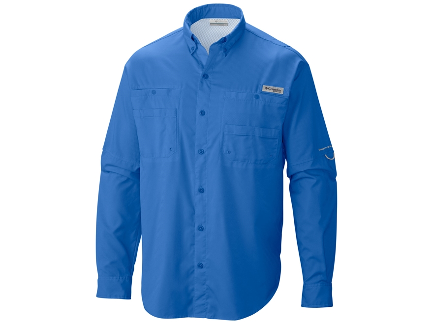 Columbia Men's Tamiami II Button-Up Shirt Long Sleeve Polyester