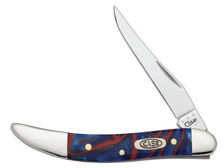 """Case Patriot Small Texas Toothpick Folding Pocket Knife 3"""" Clip Point Stainless Steel B..."""