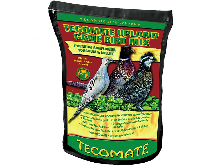 Tecomate Upland Game Bird Mix Annual Food Plot Seed 20 lb