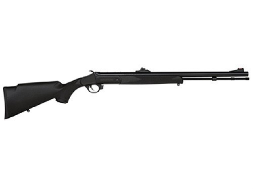 "Traditions Buck Stalker Muzzleloading Rifle 50 Caliber Synthetic Stock Black 24"" Blue B..."