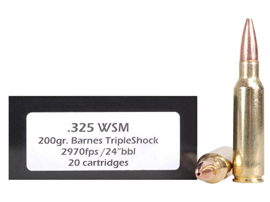 Doubletap Ammunition 325 Winchester Short Magnum (WSM) 200 Grain Barnes Triple-Shock X ...
