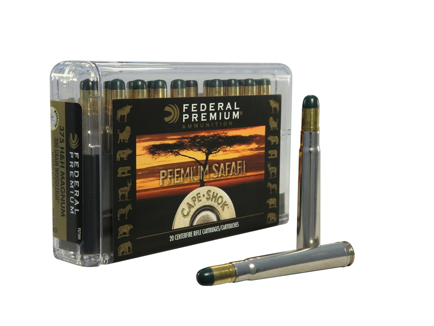 Federal Premium Cape-Shok Ammunition 375 H&H Magnum 300 Grain Woodleigh Hydrostatically...