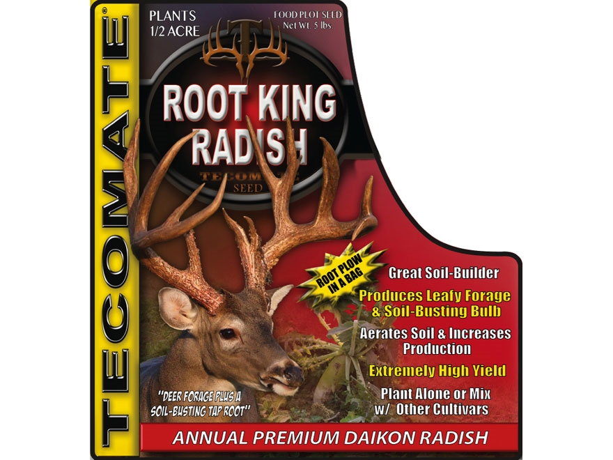 Tecomate Root King Radish Annual Food Plot Seed 5 lb