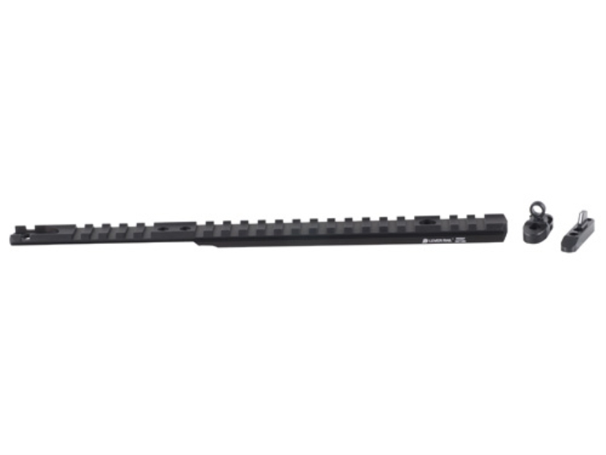 XS Lever Rail Ghost Ring Sight Set Marlin 1895 with Round Barrel Aluminum Black