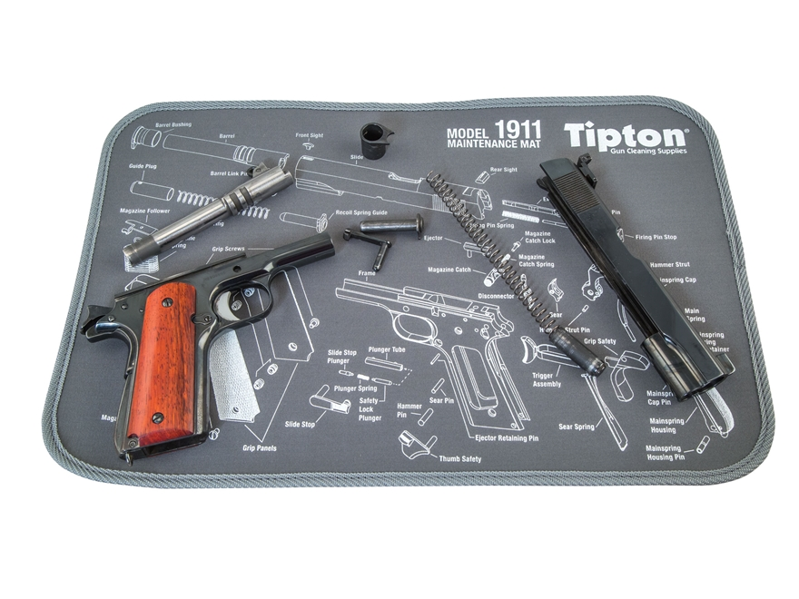 Tipton 1911 Gun Cleaning Maintenance Mat 11 X 17 Gray