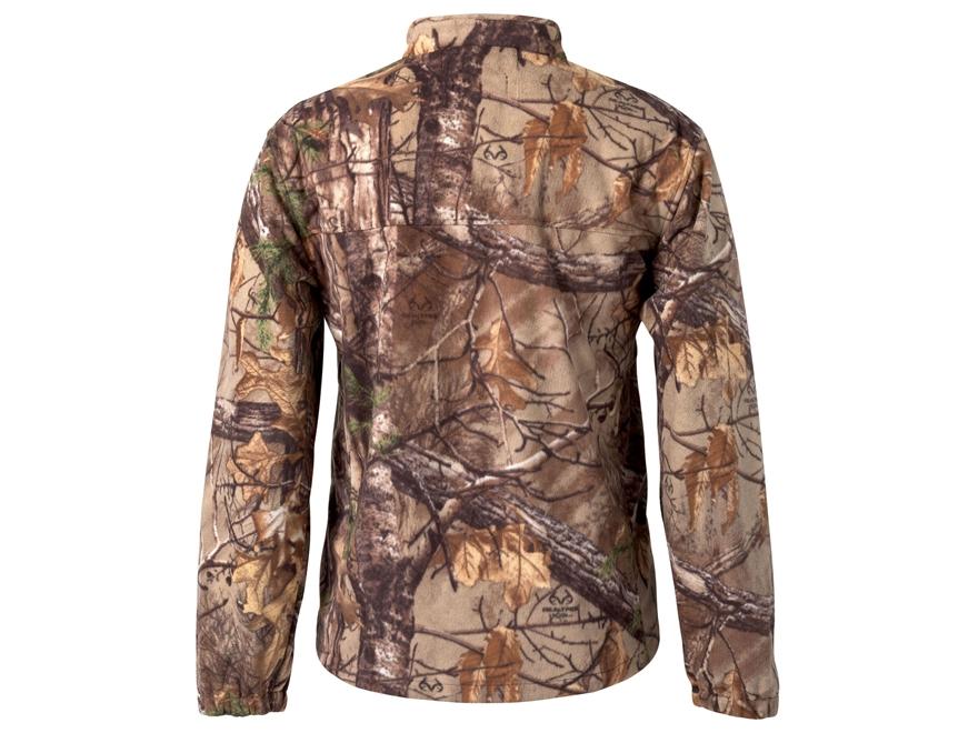 Scent-Lok Vortex Windproof Fleece Jacket Polyester Realtree Xtra