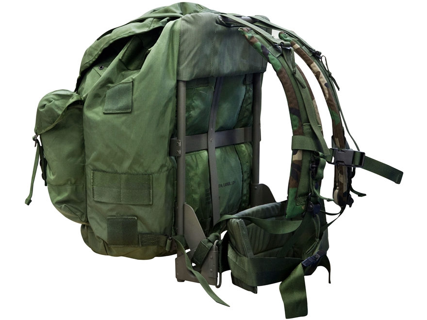 military surplus large alice pack complete frame assembly nylon olive
