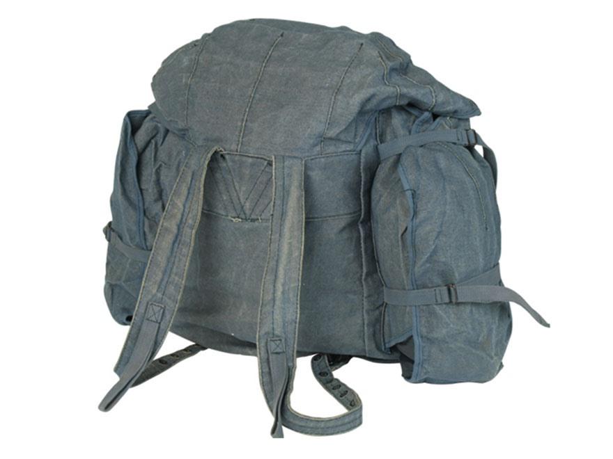 Military Surplus Italian Canvas Rucksack Blue - MPN: 91404700