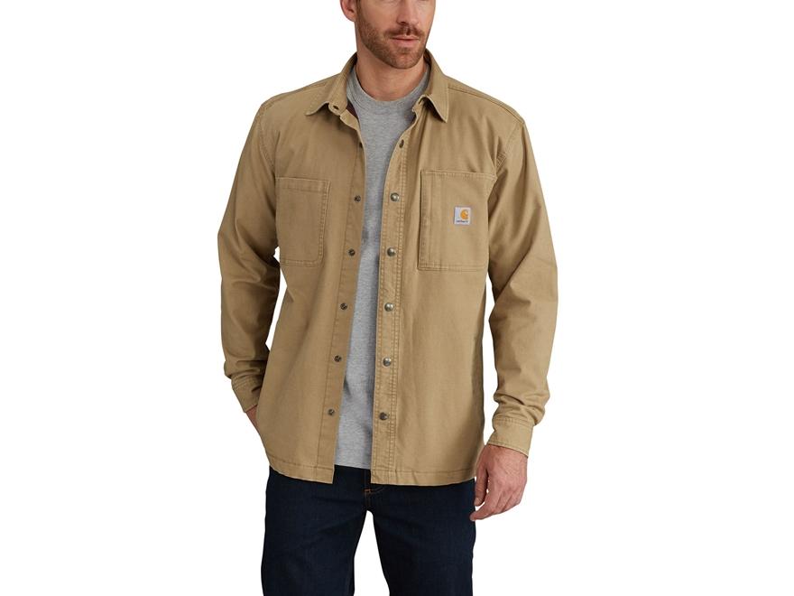 Carhartt Men S Rugged Flex Rigby Shirt Jac Cotton Spandex