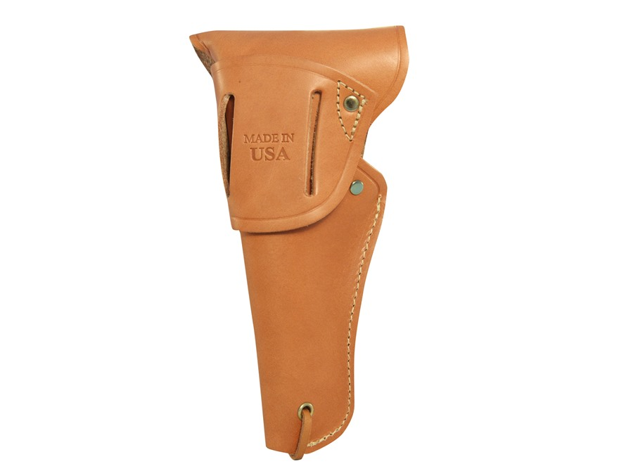 Browning 1911 22 military holster right hand leather tan