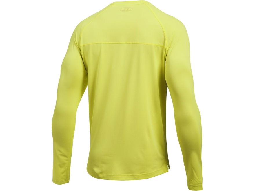 Under armour men 39 s ua sunblock t shirt long sleeve upc for Yellow under armour long sleeve shirt