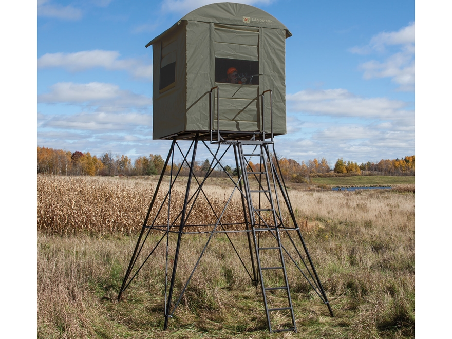 My idea for an elevated box elevated deer blind for Elevated hunting blind designs