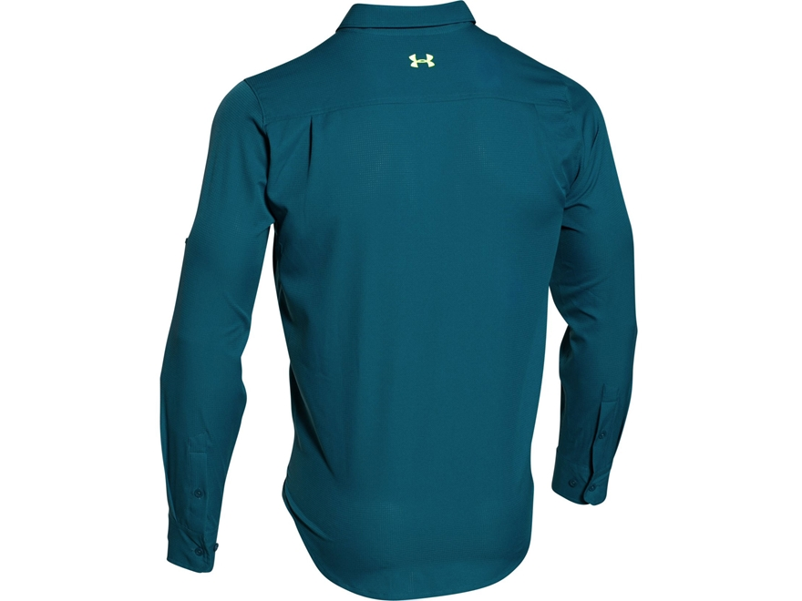 Under armour men 39 s ua armourvent fishing shirt upc for Teal under armour shirt