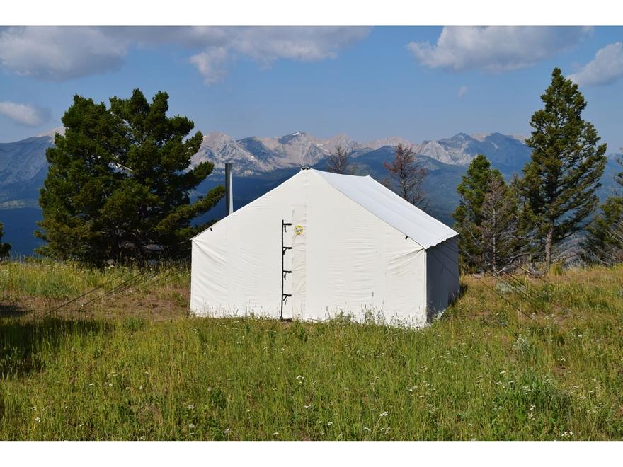 Montana canvas 12 39 x 17 39 wall tent 5 stove jack mpn Wall tent idaho