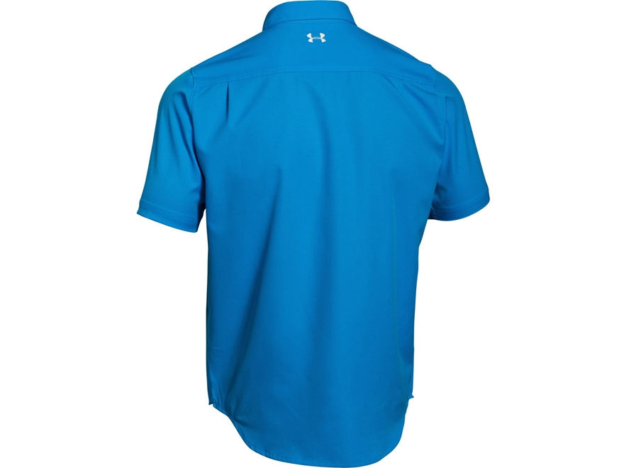 Under armour men 39 s ua armourvent fishing shirt short for Polyester fishing shirts