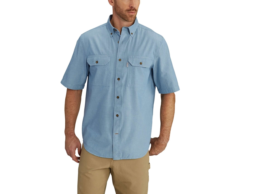 Carhartt Men 39 S Fort Solid Button Up Shirt Short Upc