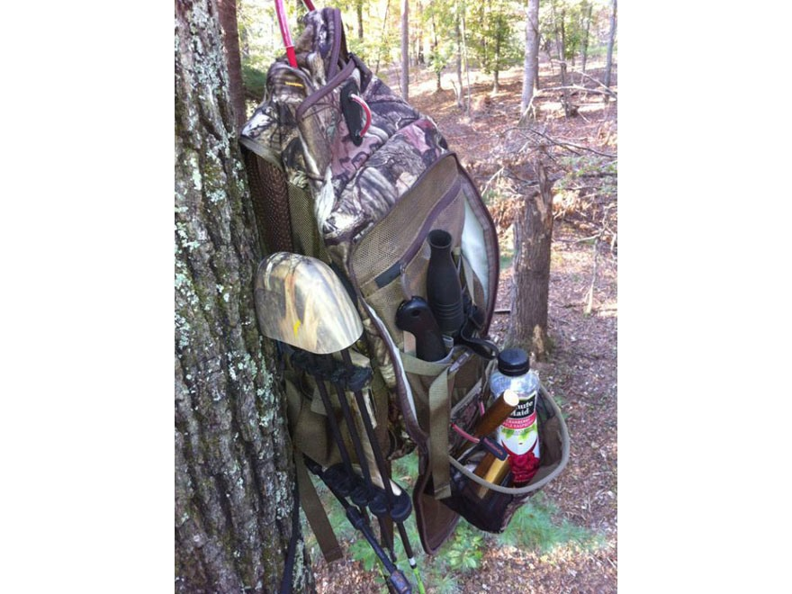 Badlands tree stand backpack polyester mossy oak mpn for Stand pack