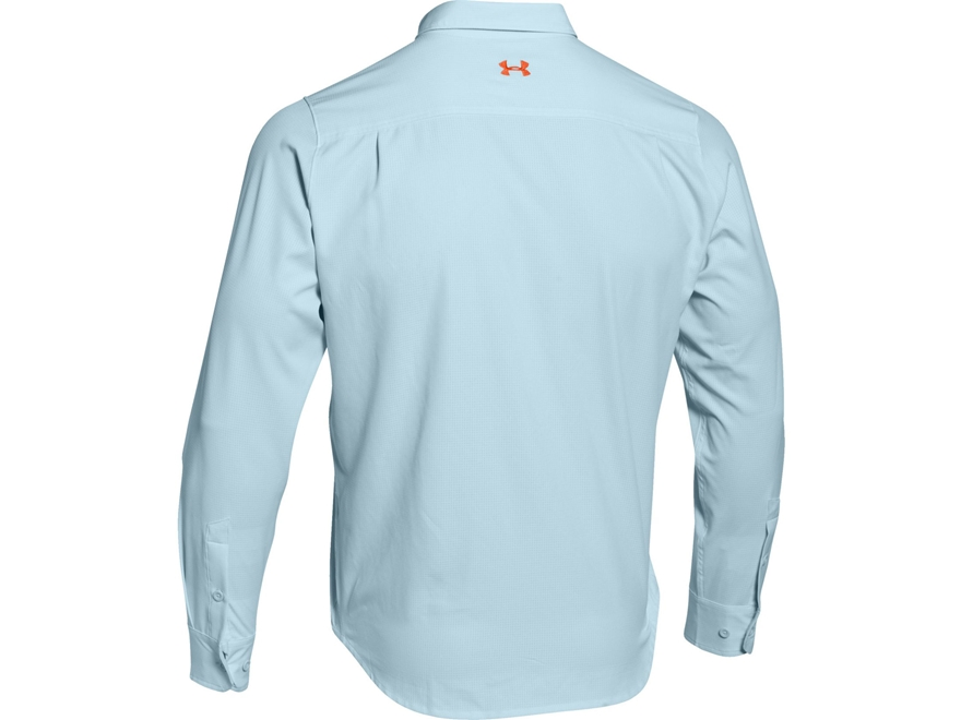 Under armour men 39 s ua armourvent fishing shirt long sleeve for Polyester fishing shirts