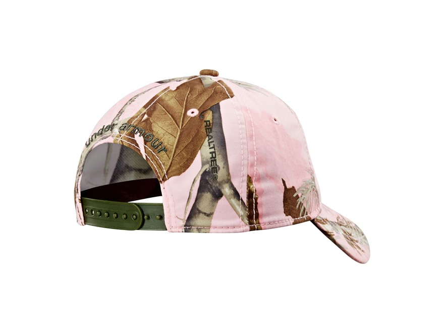 pink camo under armour hat