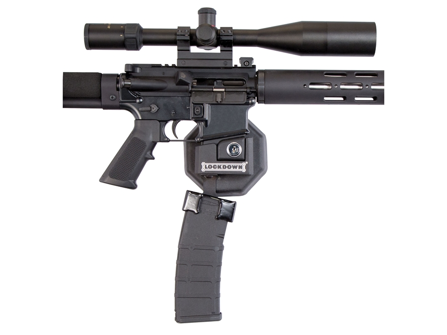 LOCKDOWN AR-15 Mag Well Lock Wall Mount