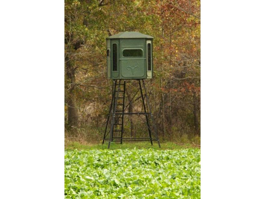 Redneck blinds buck palace platinum 10 39 elevated mpn rd for Box blind platform