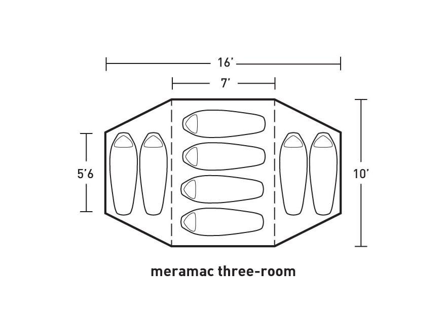 Alternate Image 1; Alternate Image 2; Alternate Image 3  sc 1 st  MidwayUSA & ALPS Mountaineering Meramac Three-Room Tent Floor - MPN: 5841639-FS