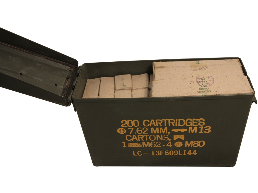 Military Surplus Ammunition 30-06 Springfield 150 Grain Full Metal Jacket Berdan Primed Ammo Can of 200 (10 Boxes of 20)  sc 1 st  MidwayUSA & Military Surplus Ammo 30-06 - MPN: 30-06 150 gr Ammo can (200) Aboutintivar.Com