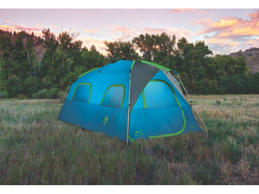 Coleman Signal Mountain 8 Man Instant Tent 96  x 168  x 76  Polyester Blue and Green & Coleman Signal Mountain 8 Man Instant Tent 96 x 168 - MPN: 2000024697