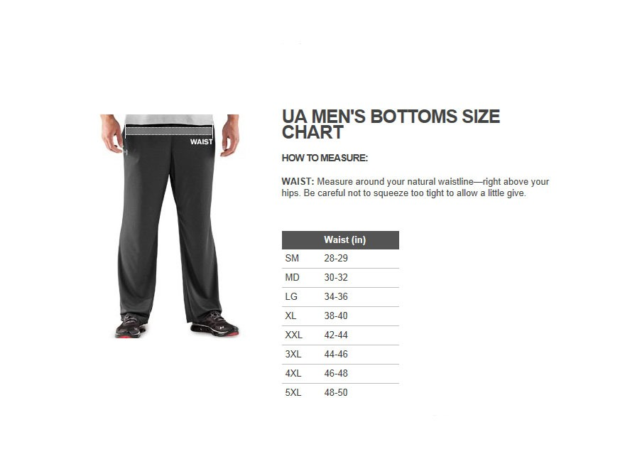 Under Armour Hunting Pants Size Chart