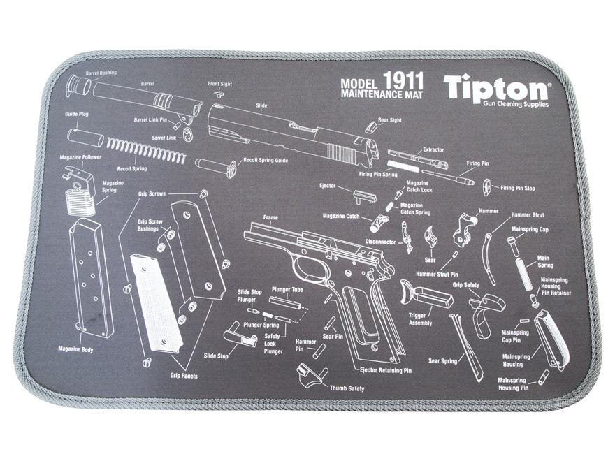 Tipton 1911 Gun Cleaning Maintenance Mat 11 X 17 Gray