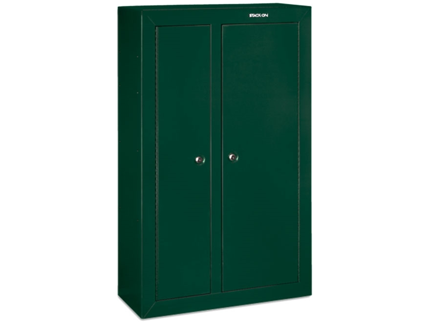 stack on double door steel security 10 gun cabinet mpn