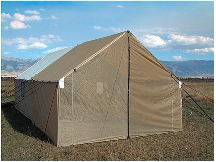 Montana canvas 10 39 x 12 39 porch tent relite for Wall tent idaho