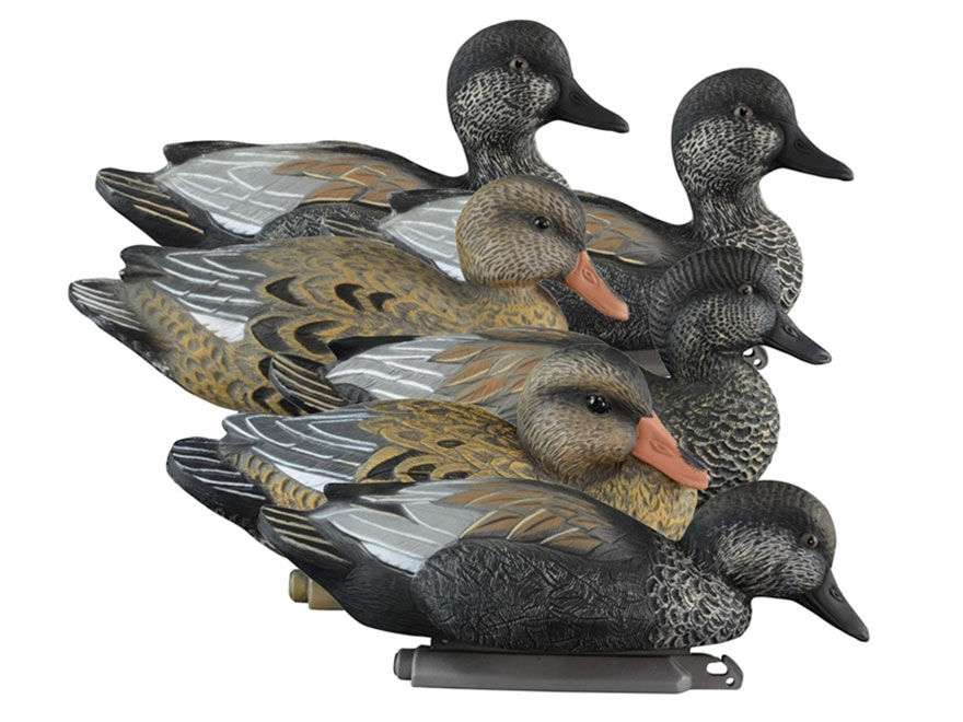 Higdon Standard Foam Filled Gadwall Duck Decoy Polymer Pack of 6