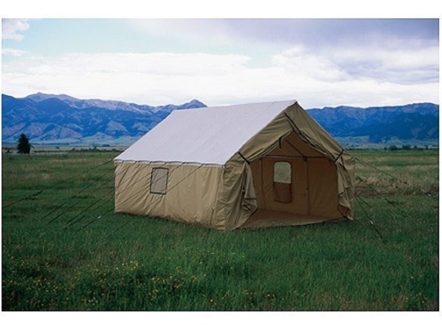 Montana canvas 12 39 x 17 39 wall tent sewn in floor 10oz for Wall tent idaho
