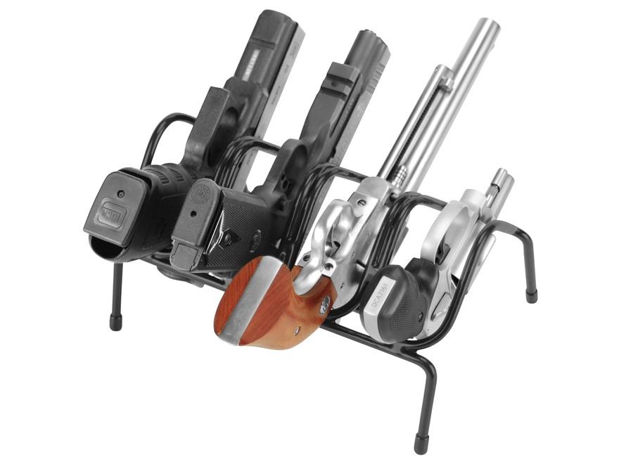 Lockdown Pistol Rack 4 Gun Vinyl Coated Steel Black Mpn