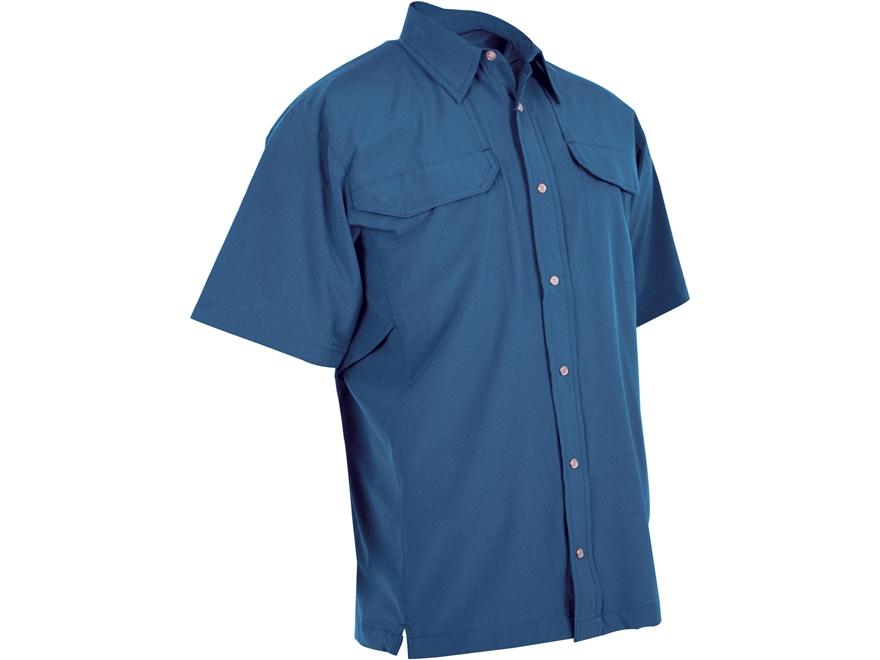 Tru spec men 39 s 24 7 cool camp shirt short sleeve polyester for Mens short sleeve camp shirts