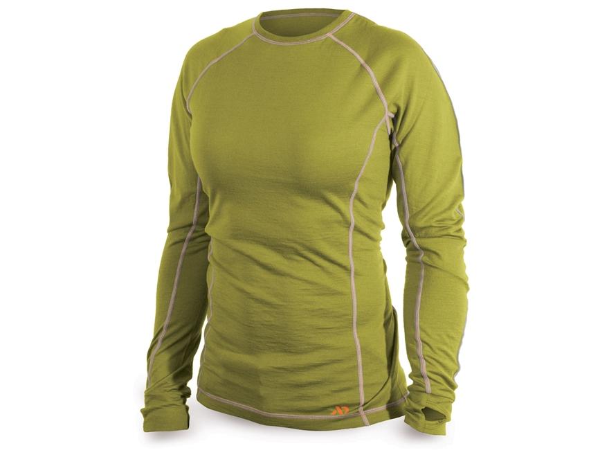 First lite women 39 s lupine crew shirt long sleeve merino wool for Merino wool shirt long sleeve