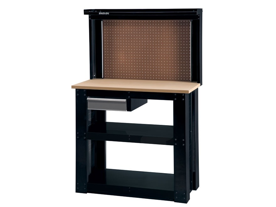 Stack On 1 Drawer Reloading Bench 20 X 40 Top Pegboard Backwall