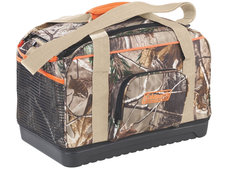 Camo Soft Cooler ~ Coleman camo duffel soft sided cooler realtree ap mpn